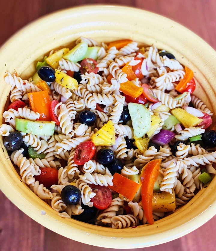 Pineapple Pasta Salad: Vegan and Gluten-Free!